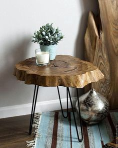 44 Awesome Wooden Coffee Table Design Ideas Match For Any Home Design - - wohnung - Wood Coffee Table Wood Slice Coffee Table, Wooden Coffee Table Designs, Wood Table Design, Small Coffee Table, Small Tables, Wooden Tables, Tree Coffee Table, Small Table Ideas, Round Wooden Coffee Table