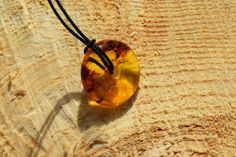 Genuine Baltic amber donut pendant Small donut by AmberGiftLT