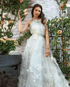#WeddingDress with Floral Appliques