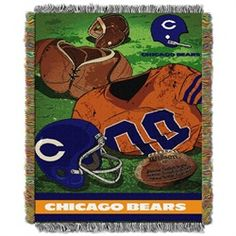 Chicago Bears Throw Blanket Afghan Tapestry