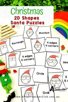 Our Christmas Math Printables For Kids are so much fun for the Holiday Season! From Cheeky Elves, Reindeer, Snowmen, Trees, Presents, Gingerbread sweet treats, and Santa himself. Your Kids will love learning with these thematic printables for math and literacy for an Jolly Holly Day this December. Christmas Math, Christmas Activities, Christmas Printables, Classroom Activities, Learning Fractions, Teacher Freebies, Shape Puzzles, Learning Numbers, Children's Picture Books