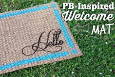 PB-Inspired IKEA Doormat Makeover - Recently I visited IKEA and was overwhelmed by the vastness of fabulous products that had great makeover potential.  One suc…