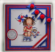 A little Red, White & Blue - Paper, Markers, Ink, Oh My!
