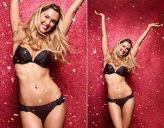 """Time to party! The 28-year-old supermodel shows off her famous curves in Passionata's Satine bra and panty set. Calling Refaeli their """"Gypsy Pin' Up,"""" the lingerie brand says of their spokeswoman: """"With wavy hair like snakes, emerald eyes and tempting curves, angelic and sensual or bewitching and enchanting in turn, she knows better than anyone how to set hearts alight as she goes by."""""""