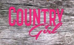 Country girl vinyl decal,FREE SHIPPING  Car decal, truck decal, jeep decal, yeti cup decal, country decal, laptop decal by StaceyGribblevinyl on Etsy