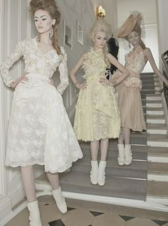 backstage at Christian Dior couture spring/summer 2010