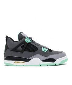 c3ccbf4bf4b5 Air Jordan 4 Retro Dark Grey Green Glow Cmnt