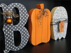 Halloween wood crafts by ruth