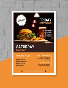 restaurant poster Captivating Flyer Examples, Templates and Design Tips - Business Restaurant Flyer Template - Include a call to action that allows you to track the ROI of your flyer Graphic Design Flyer, Brochure Design, Stationery Design, Flyer Design, Design Design, Food Menu Design, Food Poster Design, Event Poster Design, Poster Designs