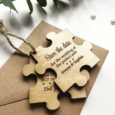 Jigsaw Wooden Save The Date