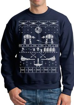STAR WARS INSPIRED ugly sweater, Long sleeve shirt funny Christmas tee ugly sweat shirt