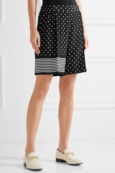 Stella McCartney - Zandra Printed Silk Crepe De Chine Shorts - Black