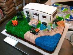 Camping cake... Is it summer yet??