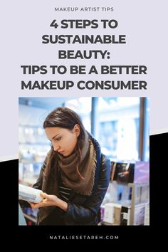 There are four key things I think we can do as consumers to improve sustainability as we shop for, wear, and dispose of makeup and beauty products: 1. Build Your Own & Refillable Palettes 2. Sustainable Materials in Packaging 3. Recycling & Repurposing Cosmetic Materials 4. Sustainable, Clean, & Cruelty-Free Formulas Best Makeup Tips, Makeup Hacks, Best Makeup Products, Beauty Products, Makeup Artist Tips, Brow Shaping, Makeup Techniques, Lip Liner, Repurposing