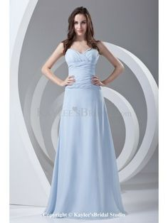 Chiffon Sweetheart A-line Sweep Train Directionally Ruched Prom Dress