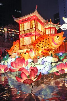 South Korea: Seoul lantern festival - I want to go to Seoul so badly, and the look of this reminds me of Longqingxia in China, which was awesome. So: #HipmunkBL