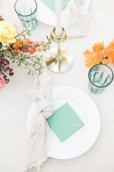 White wedding with pops of color