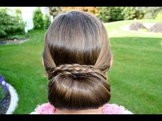 Braid-Wrapped Chignon | Cute Updo Hairstyles