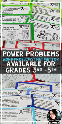 Looking for meaningful and rigorous word problems for your math class? Power Problems are your answer.
