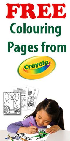 Free Colouring Pages from Crayola~!