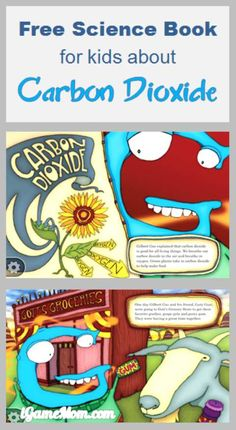 Free science book about carbon dioxide for kids, plus science experiments and games #kidsApps
