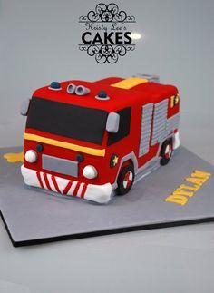 Fireman Sam Fire Engine Cake