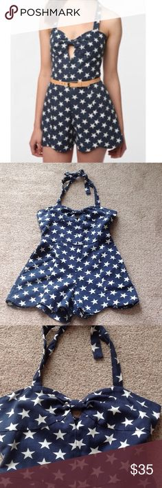 Doce Vita star romper Never worn. Material is like denim. It doesn't come with belt.                                                  h Dolce Vita Dresses