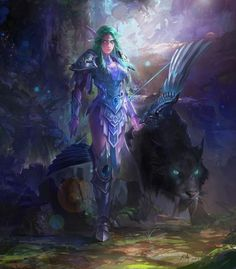 Tyrande Whisperwind <High Priestess of Elune) by David Zhou