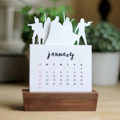 2016 Minimalist Paper Cut Desk Calendar with Solid Wood Stand \ Star Wars Series 1 (18.00 USD) by PurnaProject