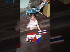 Bà ngoại dạy Xtrum 15 tháng tuổi học nhận dạng các lá cờ các nước