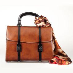 Tie a #fall scarf on your handbag #fashion