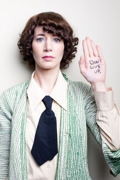 "Miranda July, ""don't give up"" message, artist."