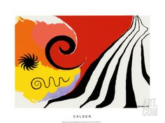 Pinwheel and Flow, c.1958 Serigraph by Alexander Calder at Art.com