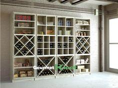 Gourmet Kloof | Botellero modular de madera Gourmet MG 21