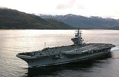 The USS Ronald Reagan ...