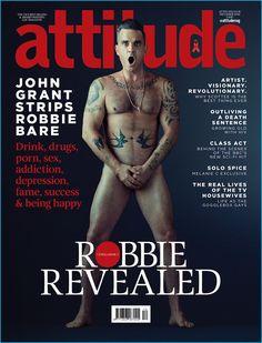 The King is back! O cantor Robbie Williams (@robbiewilliams) como veio ao mundo na capa dupla da nova edição da 'Attitude' Magazine pelas lentes de Stephanie Pistel (@stephaniepistel).