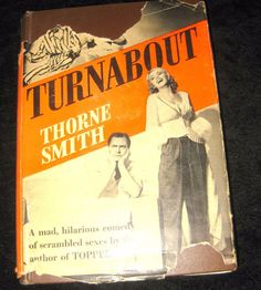 "Turnabout Thorne Smith Sun Dial Press 1931 HB DJ ""Topper"" Creator humor"