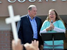 During Pope Francis' visit to the United States, he met in private at the Vatican Embassy with Kim Davis and her husband.