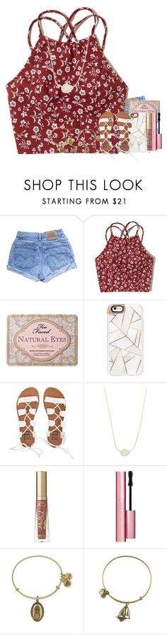 """Octavia // day 5"" by if-you-like-midnight-driving ❤ liked on Polyvore featuring Levi's, Hollister Co., Too Faced Cosmetics, Casetify, Billabong, Kendra Scott, Alex and Ani and ochoco2k16"