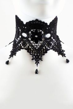 Bella Donna Lace Choker - Gypsum || Clothing & Accessories