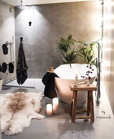 Furs in #bathroom? Oh yes! This is wonderful #homedecor! @istandarddesign