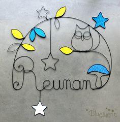 """Reunan - Photo de Créations """"Prénoms en fil de fer"""" - BlueLuenn"""