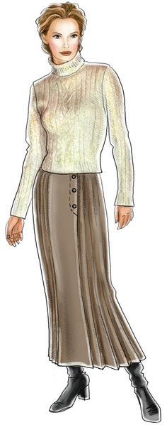 Skirt With Zipped Gusset - Sewing Pattern #5486. Made-to-measure ...