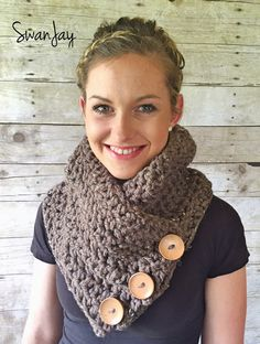 Button Scarf Three Button Cowl Perfect Gift Warm Chunky Scarf Harbor Scarf https://www.etsy.com/listing/245773568/crochet-button-cowl-chunky-handmade