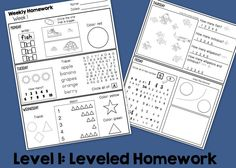 Leveled Homework BUNDLE This resource is a bundle of Level 1, 2, and 3 Leveled Homework Packets and contains 108 packets of different leveled weekly homework packets. Each page contains math, literacy, and social skill work at 3 distinct levels! This is the mega pack of all mega packs! by theautismhelper.com