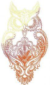 Owl free machine embroidery design. Machine embroidery design. www.embroideres.com