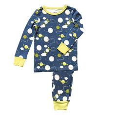 2f82ae9f48 Bamboo 2 pc Pajama Set – Blue Galaxy Space Baby Bamboo
