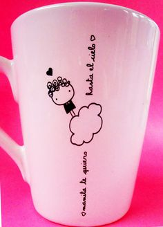 Bildergebnis für drawing mug edding Sharpie Crafts, Sharpie Art, Sharpies, Pottery Painting, Ceramic Painting, Diy Becher, Porcelain Pens, Painted Coffee Mugs, Mug Art