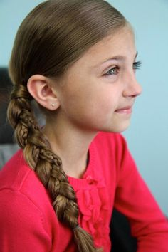 What's better than one braid? Try two! This style from Cute Girls Hairstyles is supersimple and stylish.