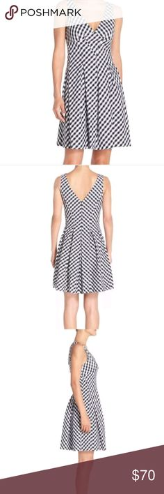 Betsey Johnson Gingham Fit Flare Dress New with tags! Flattering Silhouette!   Chest (armpit to armpit laying flat) = 18 inches  Waist( natural waist flat across)= 15.75 inches  Length (armpit to bottom hem laying flat)= 36.5 inches  Thank you so much for considering this item for purchase. All of your purchases go toward my son's college fund. Remember to shop wisely, check measurements carefully and let me know if you have any questions. Betsey Johnson Dresses